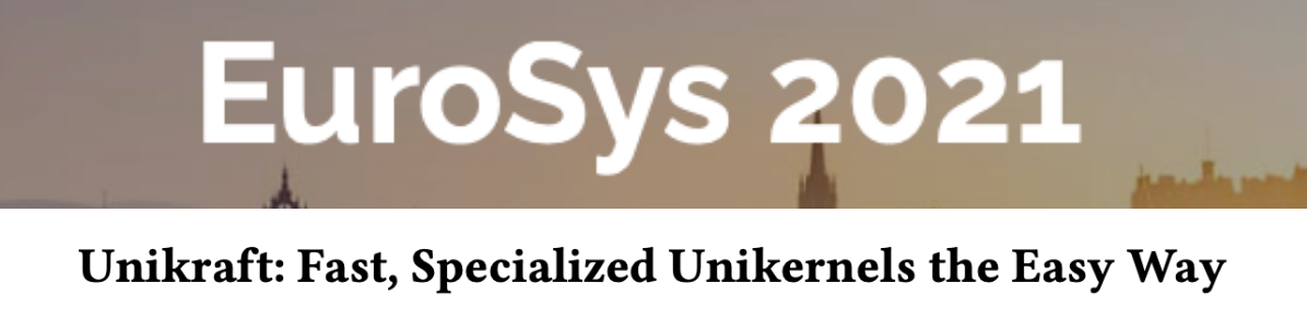 UNICORE members win Best Paper Award at EuroSys 2021