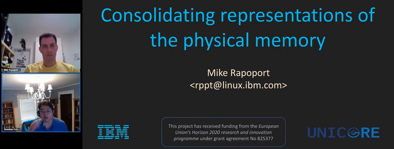IBM presentation at the Linux Plumbers Conference, available